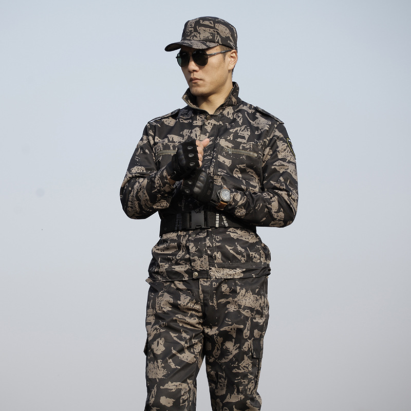 Black Hawk Camouflage Work Suit Men And Women Special Forces Military Training Clothes Outward Bound Wear-Resistant Workwear Lab