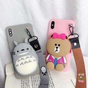 Милый кошелек Totoro для Huawei P9 P10 P20 Lite Plus Nova 3e 2 2s 3 3i Y9 2018 2019 4 Honor 10 7A Play 7c P30, чехол для телефона