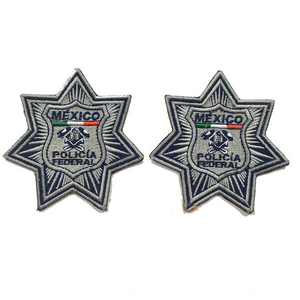 Image 3 - Military patches Mexico police embroider badges manufacturer iron on backing 3.0inch height could make as your logo