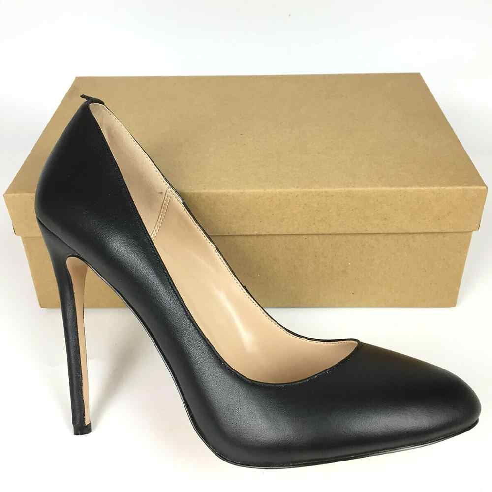 Genuine Leather Shoes Women Round Toe