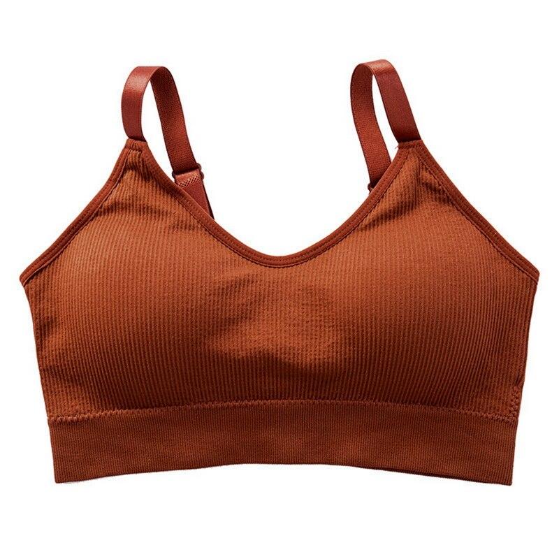 Running Gym Bra For Cup A-D Crop Top Women Fitness Top Seamless Sports Bra Push Up Sport Bra Top  Sujetador Deportivo