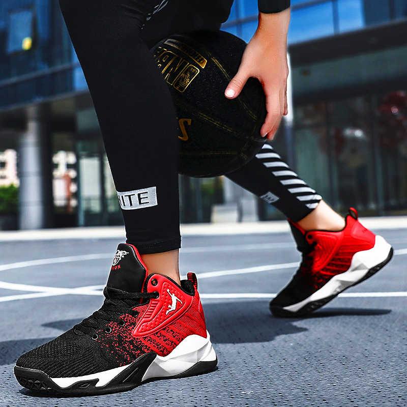 กลางแจ้งจอร์แดนรองเท้าบาสเก็ตสำหรับผู้ชายระบายอากาศน้ำหนักเบาบาสเกตบอลรองเท้าผ้าใบ Nonslip กันกระแทกแข็งแรงกีฬาฝึกอบรมจอร์แดนรองเท้าผู้ชาย