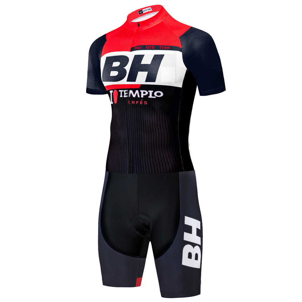 2020 laser cut TEAM BH cycling skinsuit men's cycling jersey summer outdoor skinsuits bicycle triathlon suit tenue <font><b>velo</b></font> homme image