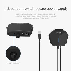 Image 4 - ORICO SATA a USB 3.0 Hard Drive Adattatore 2.5/3.5 pollici SATA & IDE Hard Drive Adapter 5 Gbps ad alta velocità con 12V Adattatore di Alimentazione