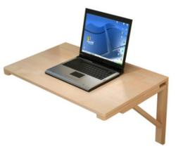 مكتب محمول مثبت على الحائط 80*50 سنتيمتر مكتب دراسة قابل للطي متعدد الأغراض من الخشب الصلب