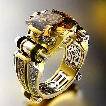 14K Yellow Gold Pure Natural Topaz Ring for Women Gemstone Anillos De Bizuteria Ametrine Bague or Jaune Fine Jewelry Ring Female 2 carats diamond ring female 18k gold wedding anillos bague etoile bizuteria ring for women men gemstone white topaz jewelry box