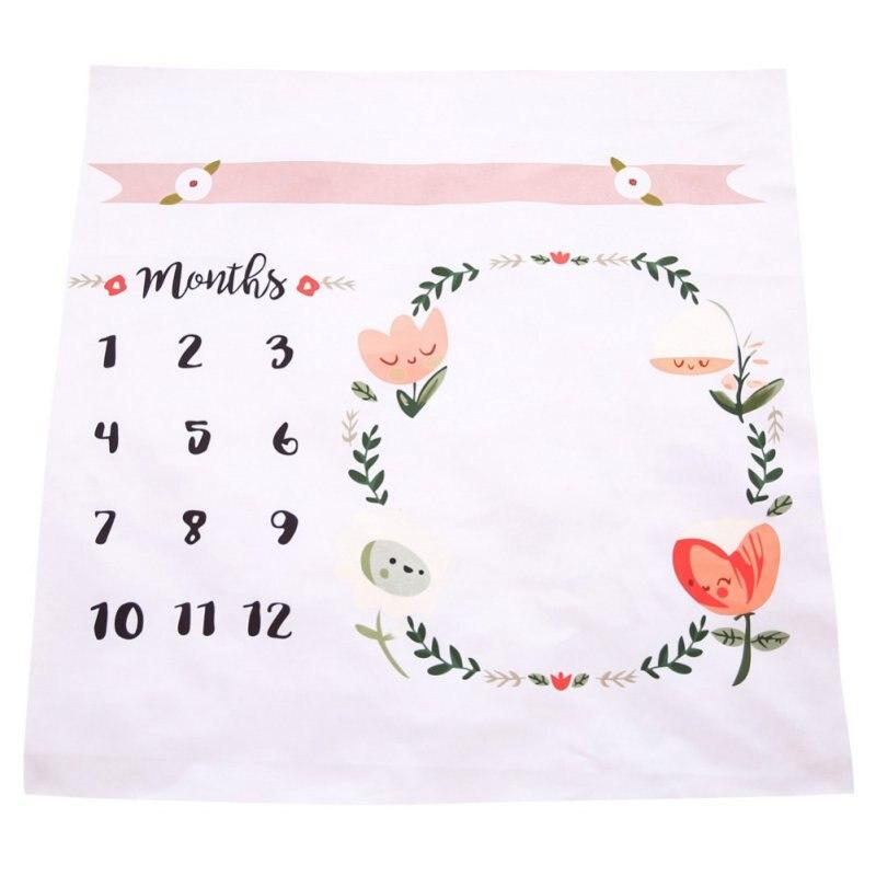 100x100cm Baby Newborn Blanket Kids Infant Baby Cotton Cartoon Photo Photography Prop Wraps Letter