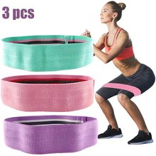 Resistance-Bands-Set Hip-Circle Booty Builder Butt-Glute Yoga Strength Training Pilates