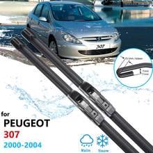 Lâminas de limpador do carro para peugeot 307 307sw 307cc hatchback sedan 2000 2001 2002 2003 2004 frente brisas limpadores acessórios do carro