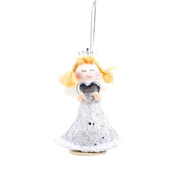 Christmas Decoration Christmas Decoration Angel Girl Doll Fabric Plush Christmas Doll Christmas Pendant Christmas Child Gift christmas decoration old man snowman elk christmas gift small pendant plush doll christmas tree pendant decoration