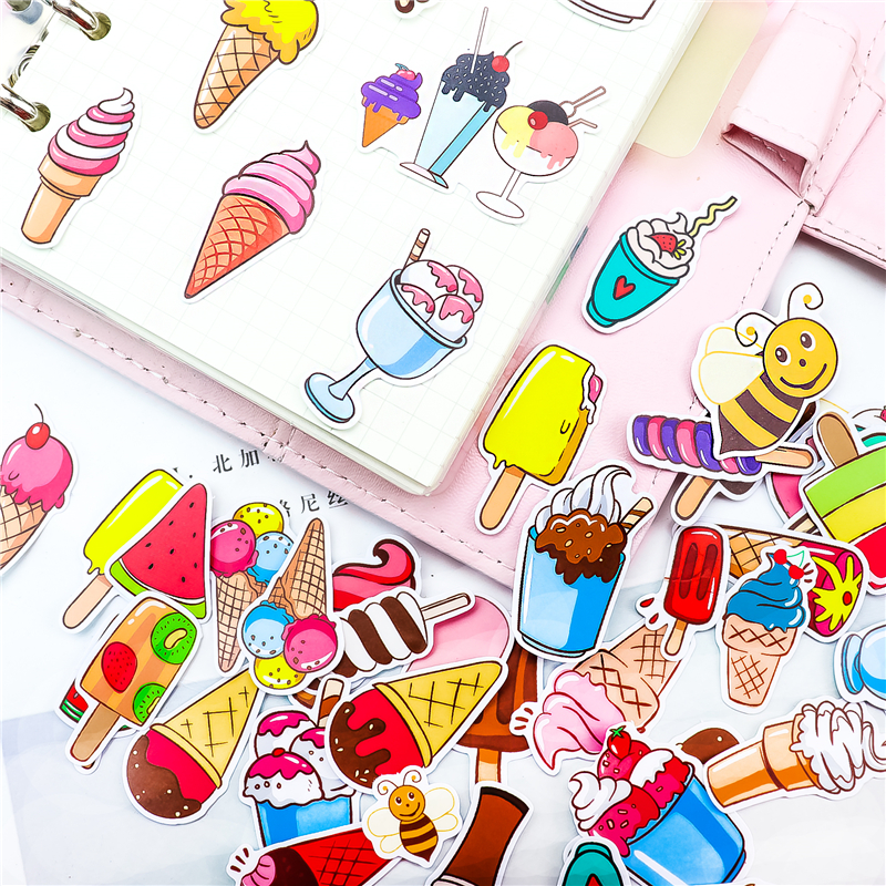 Stickers 51pcs Rooftop Coffee House Bullet Journal Decorative Stationery Stickers Scrapbooking DIY Diary Album Stick Lable