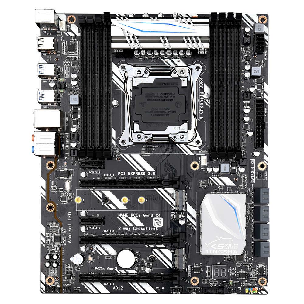 JINGSHA X99 D8 motherboard LGA2011-3 USB 3,0 NVME M.2 SSD unterstützung Crossfire wifi 8-kanal DDR4 ECC REG und desktop memorry