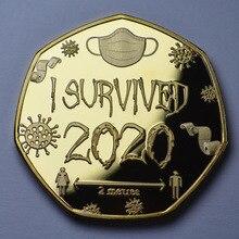 I SURVIVED 2020 Commemorative Medal 2020 I Survival Medal Commemorative Seal Commemorative Gift Coins