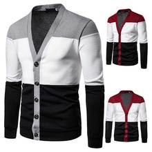 Модный кардиган, свитер, зимняя мужская одежда, Повседневный пуловер, мужской вязаный свитер, новинка, Sueter Hombre