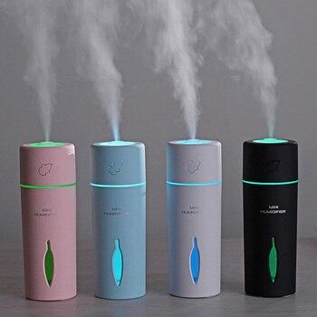 Mini Leaf USB Air Humidifier 7 Colors LED Lights Ultrasonic Mist Maker Fogger Car Aroma Diffuser Air Purifier 150ml