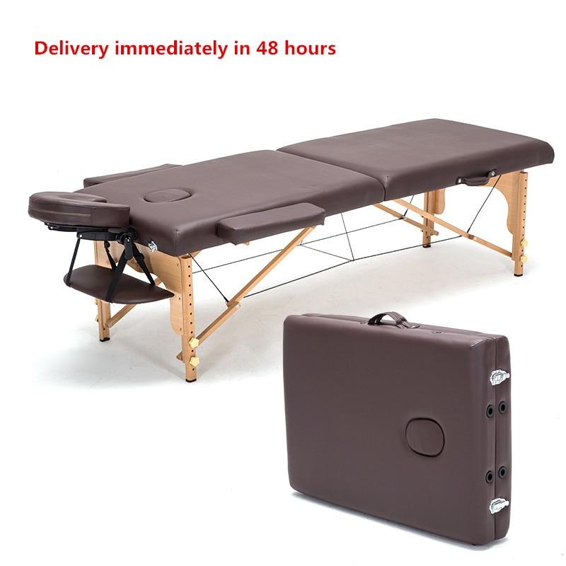 المهنية المحمولة سبا طاولات للتدليك طوي مع حقيبة حقيبة صالون خزينة ملابس خشبية سرير قابل للطي طاولة تدليك الجمال