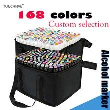 TOUCHFIVE 1 шт. можно выбрать номер цвета для себя двойная головка художественный эскиз маркер для рисования Маркеры Ручка на спиртовой основе маркер