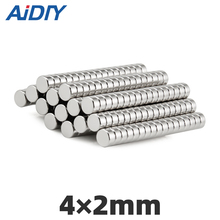 AI DIY 50/100/500 pcs Small Mini magnet disc super strong 4x2mm powerful neodymium Round Rare Earth Magnetic magnets 4 * 2mm
