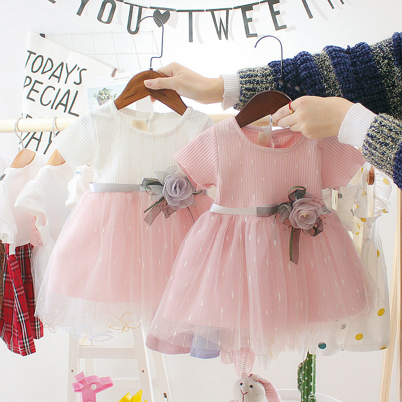 New Born Baby Girls Infant Kids Party Birthday Outfits Shoes Set