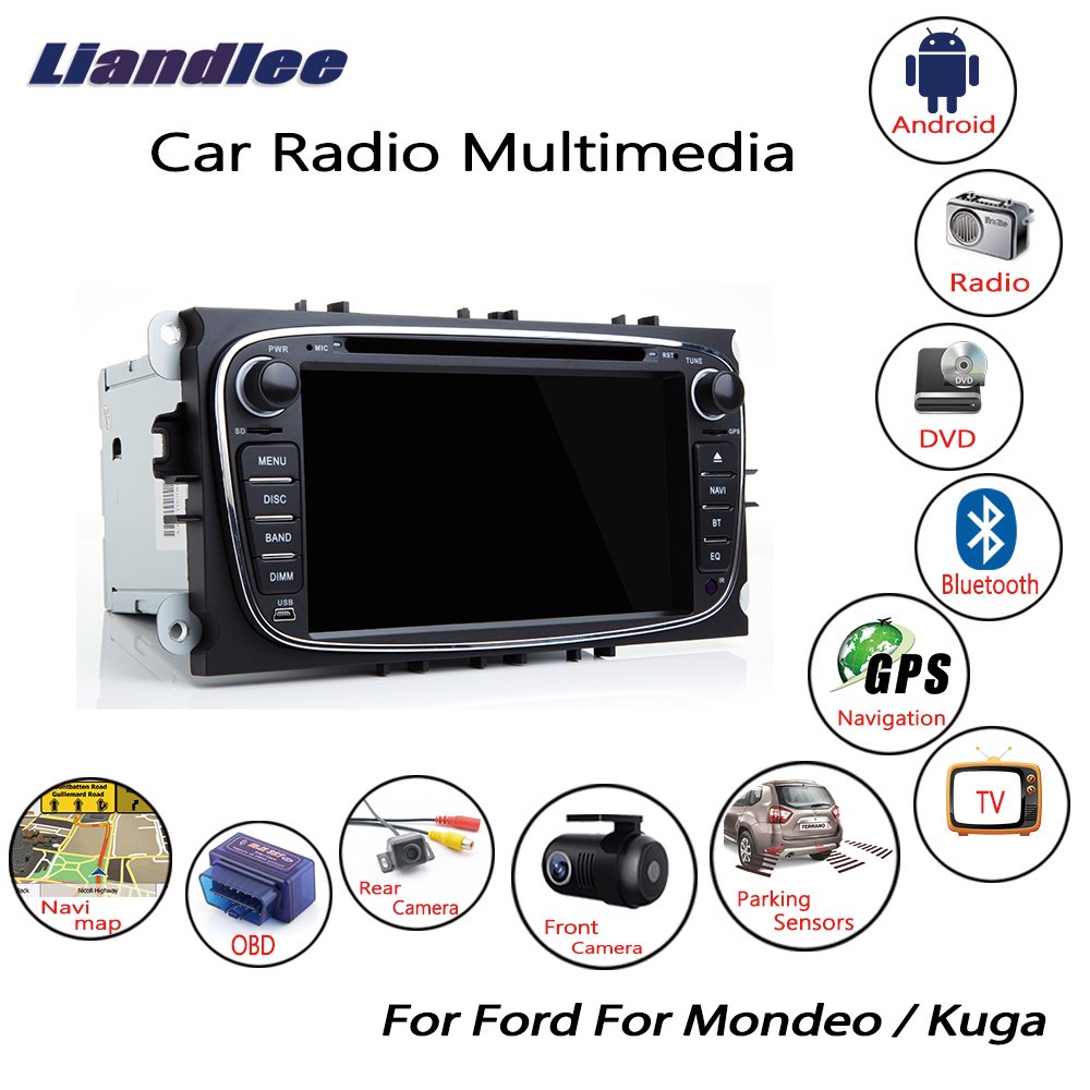 Car Radio CD DVD Player For Ford Mondeo/Kuga 2007 2008 2009 2010 2011 2012 Android Multimedia GPS Navigation Screen System