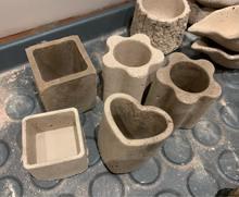 Мини форма для цветов цемента бетона квадратная круглая силиконовая