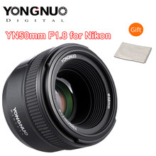 YONGNUO 50MM F1.8 Camera Lens for Nikon D800 D300 D700 D3200 D3300 D5100 D5200 D5300 D7000 Large Aperture AF MF DSLR Camera Lens(China)