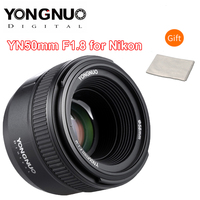 YONGNUO 50MM F1.8 Camera Lens for Nikon D800 D300 D700 D3200 D3300 D5100 D5200 D5300 D7000 Large Aperture AF MF DSLR Camera Lens