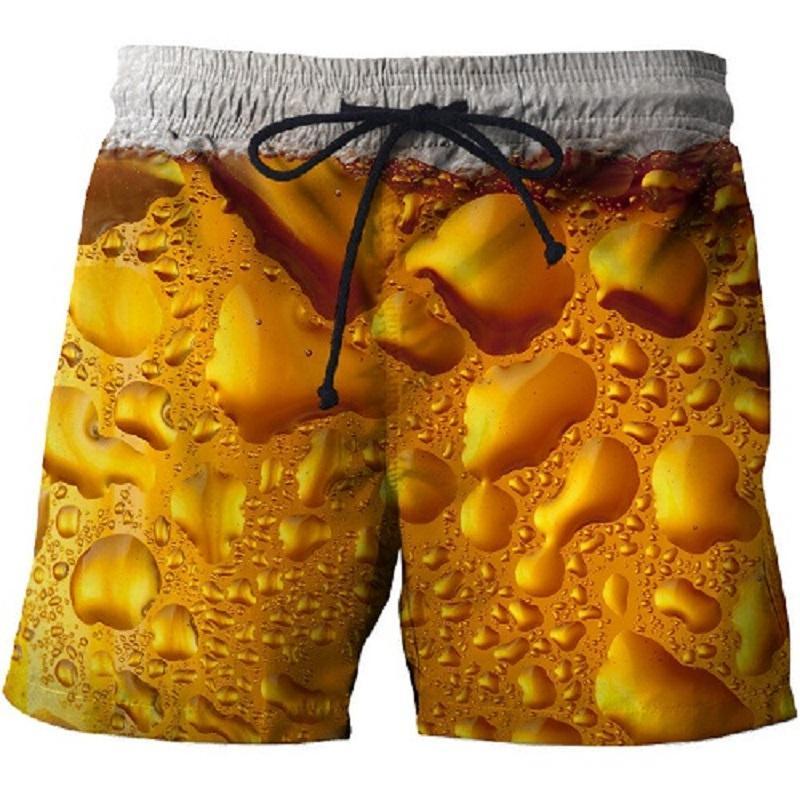 2021 summer swimming trunks 3D printing casual beach pants fitness street men's comfortable shorts fashion hip-hop sports pants 5
