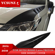 2019 Side Bonnet Cover for Mitsubishi l200 Triton Bonnet Hood Cover For Mitsubishi 2015 2016 2017 2018 2019 For Ycsunz
