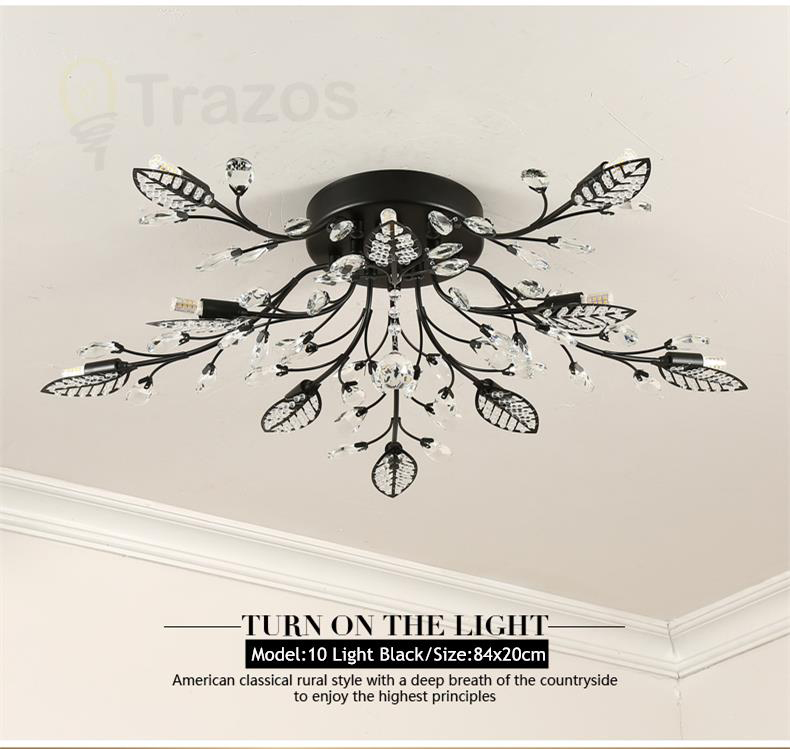 He209f6d53bad4709996a8d7bfcc30ae06 TRAZOS New item fancy ceiling light LED Crystal ceiling lamp modern lamps for living room lights,AC110-240V DIY Crystal lighting
