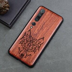 Image 5 - Luxo novo para xiao mi 10 caso de madeira fina capa traseira tpu pára choques caso em xiao mi 10 pro xio mi 10 casos de telefone