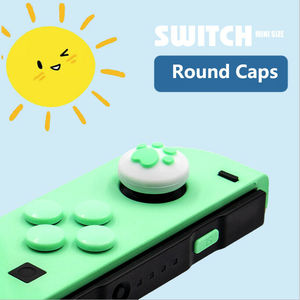 Image 4 - 1Set Silicone Cat Paw Thumb Grip Caps Cover & 8Pcs ABXY Directions Key Buttons Sticker for Nintendo Switch Joy Con Joystick