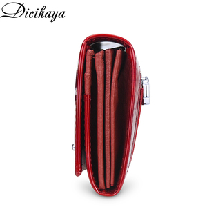 Image 3 - DICIHAYA Leather Wallet Women Classic Alligator Hasp Long Wallets Female Cards Holder Clutch Bag Fashion Cowhide Ladies Purses