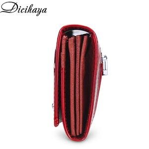 Image 3 - Кожаный кошелек DICIHAYA для женщин, классические длинные бумажники с крокодиловой застежкой, женский клатч с держателем для карт, модные дамские бумажники из воловьей кожи