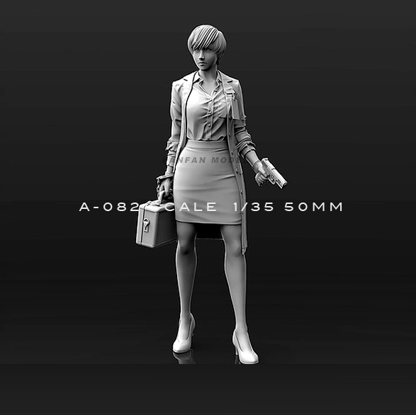1/35(50mm) Resin Kits Woman Beauty Self-assembled A82
