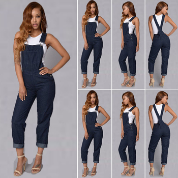Jumpsuit Bodysuit arrival Women Ladies Baggy  Bib Full Length Pinafore Dungaree Overall Solid Loose Causal Jumpsuit Pants Summer 5