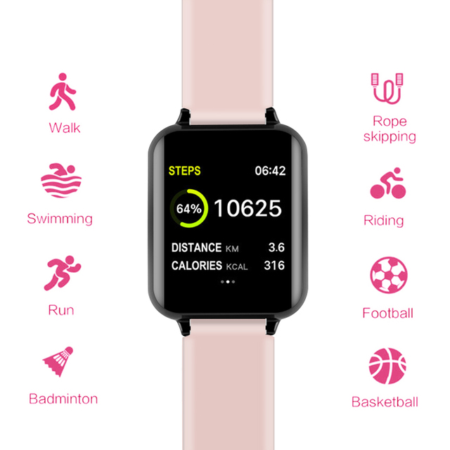 B57 Smart watches Waterproof Sports for iphone phone Smartwatch Heart Rate Monitor Blood Pressure Functions For Women men kid 2
