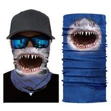 Más Vendidos ciclismo divertido tiburón perro gato Tigre impreso tela máscara Facial pañoleta de motocicleta para la cabeza cuello caliente máscara para la cara