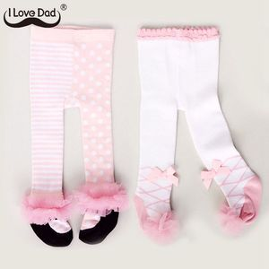 Lovely Spring Baby Tights Cotton Cute Lace Bows Baby Girl Tights Clothes Winter Newborn 0-24M Girls Pantyhose Menina Collant