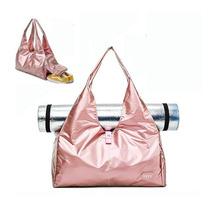 Mata do jogi torby na siłownię z komora butów Fitness na świeżym powietrzu torby podróżne męskie wodoodporne torby sportowe duża pojemność Duffel torby do przechowywania tanie tanio NoEnName_Null 20-35l Mikrofibra Fashion yoga bags for women Rose gold Black Silvery 48*24*20cm(18 90*9 45*7 87inch) About 0 23kg