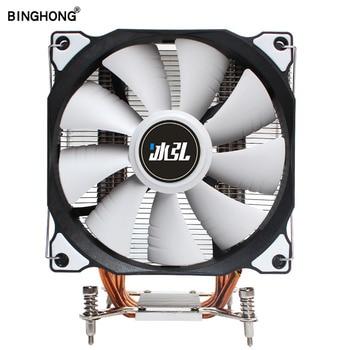 BINGHONG Cooler CPU X79 LGA 2011 120mm RGB Fan LED 4 Heat pipe Computer processor cooling  for Intel X99 X299 CPU FANS