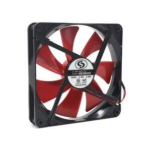 2 шт. вентилятор 140 140 мм 14 см 14025 DC 12 В, бесшумный блок питания для компьютера, вентилятор охлаждения шасси 140 мм, большой объем воздуха 0,18a 1600 об...