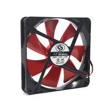 Châssis d'alimentation PC, ventilateur 140 140mm 14cm 14025 DC 12V, silencieux, refroidissement grand Volume d'air 0,18 a 1600 tr/min, 2 pièces