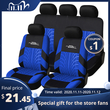 AUTOYOUTH 3 Colour Track Detail Style Car Seat Covers Set Polyester Fabric Universal Fits Most Cars Covers Car Seat Protector