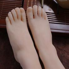 High quality real Female Foot mannequin Elastic Silicone Photography Silk Stockings Jewelry Model soft Silica gel 2PC/lot  C729