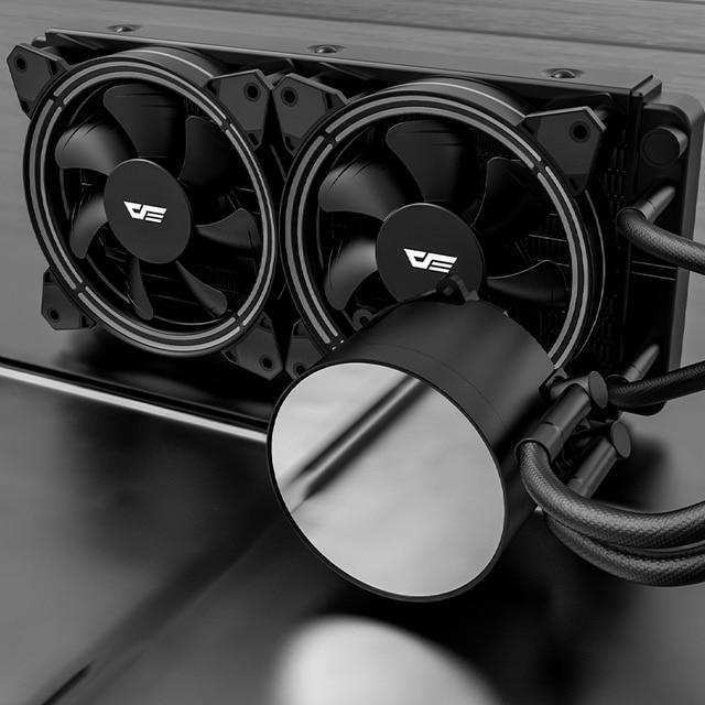 Darkflash-carcasa de PC, Enfriador de agua líquida, AIO, ventilador de enfriamiento PWM RGB, sincronización de agua, CPU para LGA 2011/115X/2066/AM4/AM3 + 5