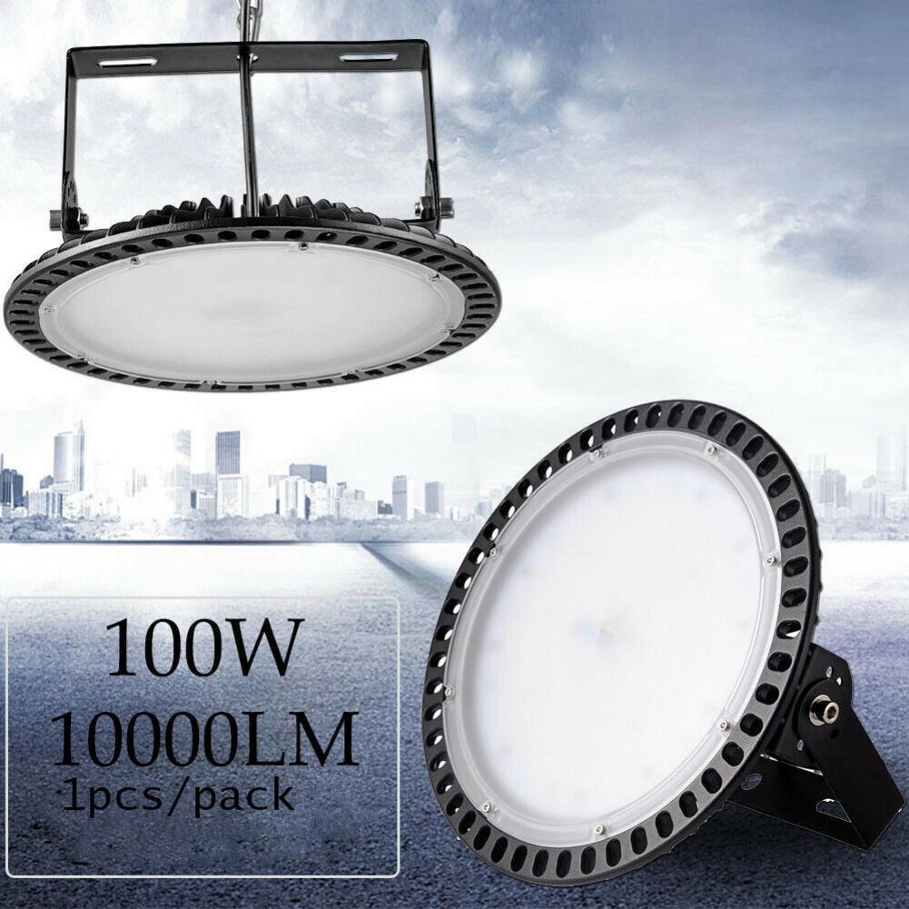 New 100W UFO LED High Bay Lights 110V Waterproof IP65 Commercial Lighting Industrial Warehouse Led High Bay Light Mining Lamp