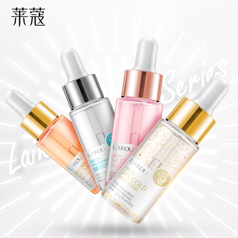 LAIKOU Sakura Face Serum Japan Skin Care Shrink Pores Remove Acne Liquid Moisturizing Face Essence Brighten Skin Serum