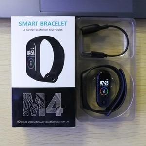 Image 1 - M4 在庫 Smartband フィットネストラッカースマートウォッチ活動 Bluetooth ブレスレット血圧モニター男性女性