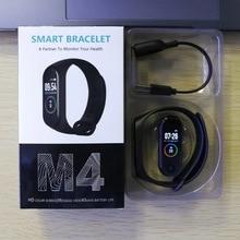M4 pulseira de atividade fitness, smartwatch em estoque, pulseira com bluetooth, monitoramento de pressão sanguínea, para homens e mulheres